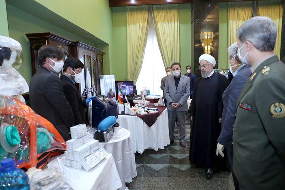 بازدید روحانی از نمایشگاه دستاوردهای داخلی حوزه مقابله با  کرونا