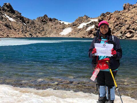 اهتزاز پرچم پر افتخار بانک رفاه بر فراز قله سبلان